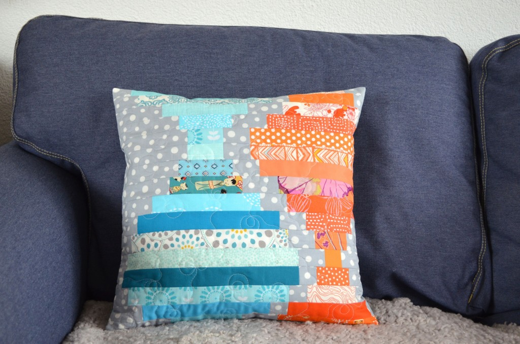 Orange and Turquoise Cushion
