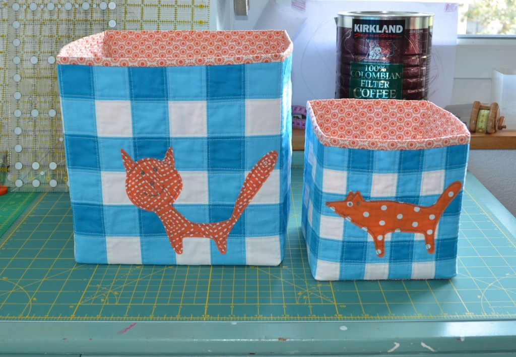 Fabric Baskets for 'Quilt Now'